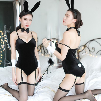 瑰若 制服诱惑兔女郎连体情趣内衣