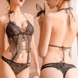 蕾丝吊带 性感情趣露背臀装